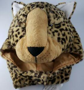 Pottery Barn Kids Costume Hood Leopard Faux Fur Cheetah Animal Dress Up Head Hat