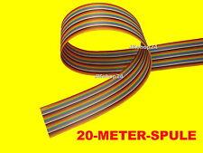 20 m FLACHBANDLEITUNG 34-Adern/Pole Flachband/Steuer-Kabel/Leitung AWG28/1,27 mm