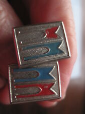 Vintage Evenrude Cuff Links Silver Coloured Metal With Logo On