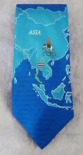 SCARCE - OLYMPIC TIE - OLYMPIC COMMITTEE of THAILAND NeckTie made by Bow 'n Tie