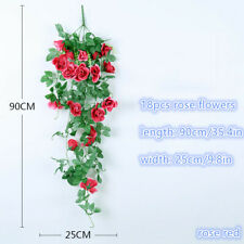 Artificial Fake Flowers Vine Hanging Garland Plant Home Wedding Wall Art Decor