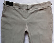 BNWT NEXT ladies beige TAILORED slouch wide leg work office smart trousers 16 P