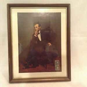 National Gallery of Art Abraham Lincoln 4 cent stamp and portrait