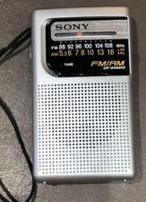 Vintage SONY Model ICF-S10MK2 AM / FM Transistor Radio with Hand Strap EUC Clean