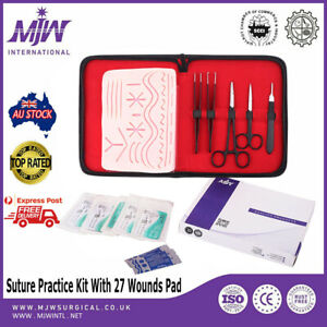 Suture Practice Kit Surgical Training Tool Medical Veterinarian Student 27 Wound