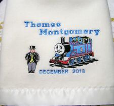 NEW Thomas + Polar Fleece Satin/Trim Baby Blanket