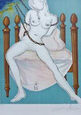 "SALVADOR DALI ""Cecile's Chastity"" 1969 Marquis de Sade HAND SIGNED Lithograph"