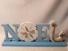 Wood Sign Christmas Noel Nautical Shelf Sitter