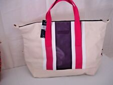 NEW  Authentic Tommy Hilfiger Weekender Canvas Tote Retail $ 98.00