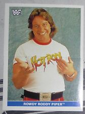 Rowdy Roddy Piper WWF 1991 Panini Euroflash Superstars Stickers Card 112 113 WWE