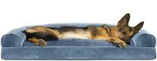 Furhaven Pet - Packable Travel Bed, Plush XLarge, (Sofa) Deep Pool