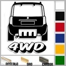 adesivo sticker fiat PANDA mk2 4x4 4wd tuning down-out dub prespaziato,auto