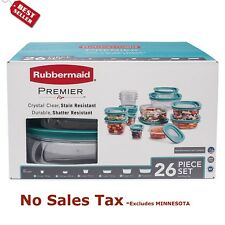 Rubbermaid Premier 26-Piece Food Storage Set Plastic Containers - FREE SHIPPING
