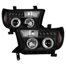 Toyota 07 13 Tundra / Sequoia Black CCFL Dual Halo LED Projector Headlights