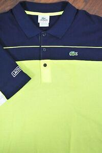 Lacoste Sport Super Light Color Block Polo Shirt Navy Green Men's 3XL (9)