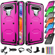 For Lg Stylo 6 Case Shockproof Hybrid Hard Rubber Rugged Phone Cover w Accessory