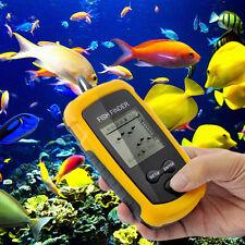 100M Portable Sonar Sensor LCD Fish Finder Alarm Fishfinder Transducer YW