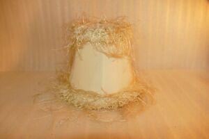 "Lamp Shade Ivory Shaggy String Fringe Fabric Bell Shape Clip On 5"" Shabby chic"