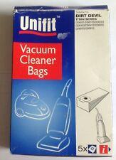 5 X VACUUM CLEANER BAGS DIRT DEVIL  UNIFIT 215