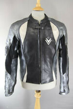 FRANK THOMAS LEATHER BIKER JACKET WITH REMOVABLE CE ARMOUR & THERMAL LINING 40IN