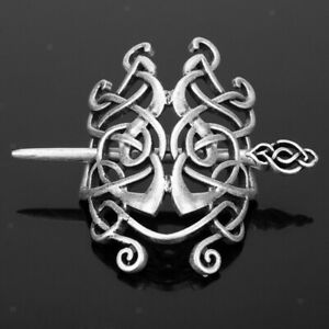 Vintage Viking Celtic Knot Hair Clips Hairpins Hair Stick Antique Silver
