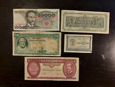 Lot 5 Different World Banknotes