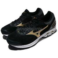 Mizuno Wave Rider 21 2E Wide Black Gold Men Running Shoes Trainers J1GC18-0550
