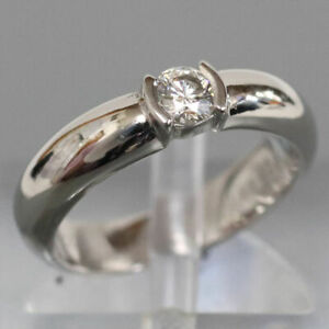 Tiffany & Co. Dots Solitaire Ring Pt950 D0.18 or Vs2 6.7G 1Pd Platinum Diamond