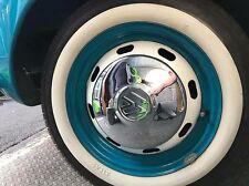 "4X15"" WHITE WALL PORT-A-WALL TYRE TRIMS WHITEWALL VW SUPER BEETLE Käfer CAMPER"