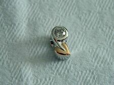 Clogau Silver & Welsh Gold White Topaz Birth Stone Bead Charm RRP £169.00