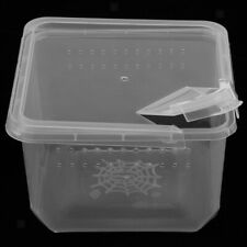 Clear Reptile Box Insect Cage Breeding Live Food Feeding Box Plastic