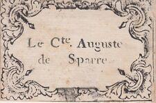 § EX-LIBRIS DU COMTE AUGUSTE DE SPARRE - XVIIIe siècle §