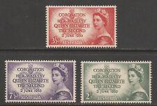 AUSTRALIA 1953 SG264/266 Coronation Set MNH (JB14105)