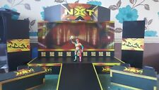 WWE/NXT upgrade stage with 2 nxt announcer tables for wrestling figures