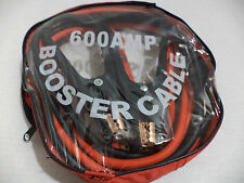 Heavy Duty 4 GA Wire 10 Ft 600 Amp Copper Parrot Jaws Booster Jumper Cable + Bag