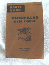 Caterpillar D330 Engine Parts Book Serial  Numbers 85B1-UP, Form UE35989