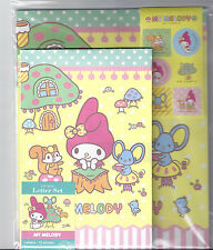 Sanrio My Melody Staionery Letter Set With Stickers Yellow