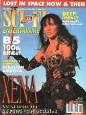 XENA - SCI-FI MAGAZINE - LUCY LAWLESS AUTOGRAPH COVER + BABYLON 5 + INVASION