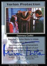 Babylon 5 Ccg Mira Furlan Premier Edition Vorlon Protection Autographed