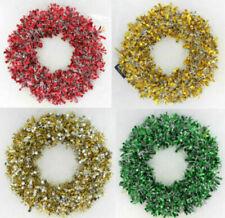 Ghirlande, corone e fiori natalizi bianchi