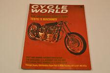 Mint Cycle World Magazine August 1970 Harley Triumph Hodaka Yamaha AT1 MX125
