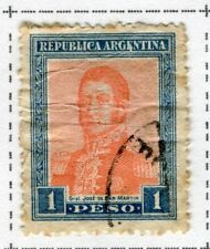 ARGENTINA;  1917 early San Martin issue fine used 1P. value