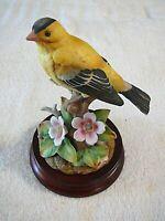 Andrea by Sadek Porcelain Bird figurine Goldfinch #9705 1999, Excellent!!!