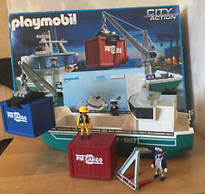Playmobil Boxed Cargo Ship 5253 Geobra PM CARGO 1007 With Instructions. VGC.