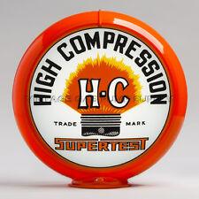 "Supertest HC 13.5"" Gas Pump Globe w/ Orange Plastic Body (G246)"