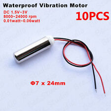 10pcs Dc1.5v-3v Waterproof Micro Vibration Motor Encapsulated Resistant Vibrator