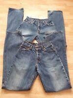 2 X Levis Womens Jeans 575 02 Waist 29 Leg 34 UK 12 Blue Good Condition