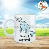 Coffee Mug Seal Of Approval Coffee Cup Funny Mug Motivational Mug Gift Mug
