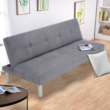 Fabric 3Seater Sofa Bed Black Taupe Grey Red Faux Suede Fabric Designer Sofa bed