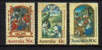 AUSTRALIA DECIMAL..1989 CHRISTMAS...SET OF 3...used